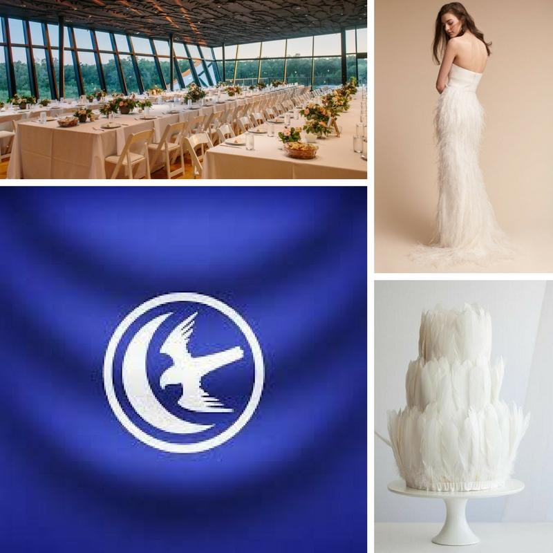 golf course lions head emblem gaucho pants dress white read and gold wedding dress