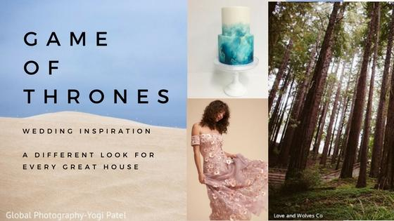 Game of Thrones Wedding Inspiration A different look for every great house
